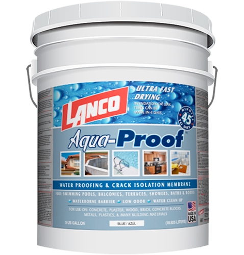 Lanco Aqua Proof Is A Liquid Membrane Of Styrene Butane Latex That Provides An Easy Alternative For Many Roofing And Waterproofing Lications As